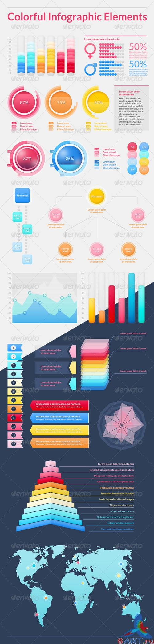GraphicRiver Colorful Infographic Elements