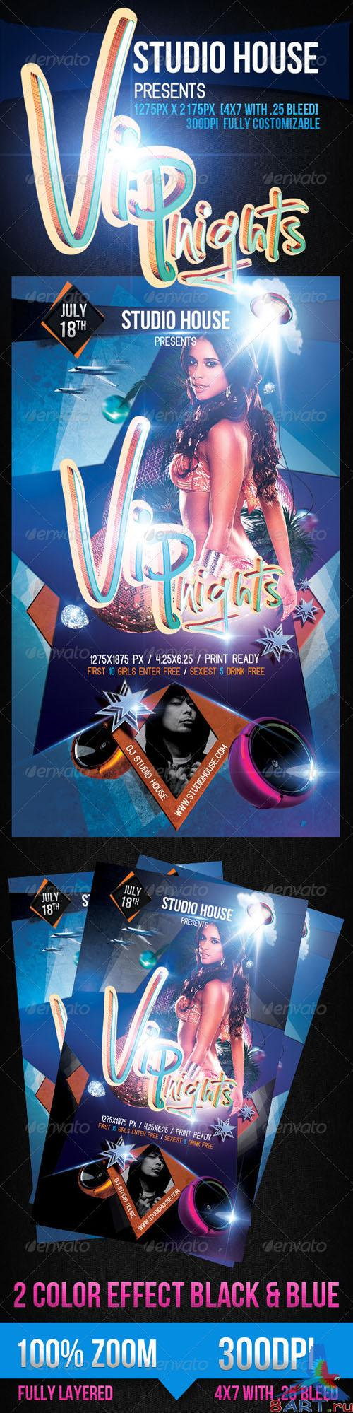 GraphicRiver - Vip Nights Party Flyer 2561572