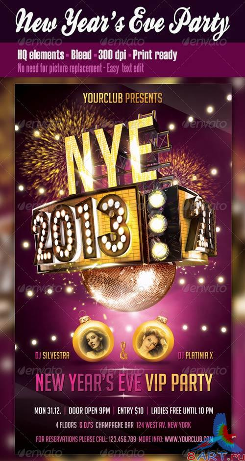 GraphicRiver New Years Eve Party Flyer