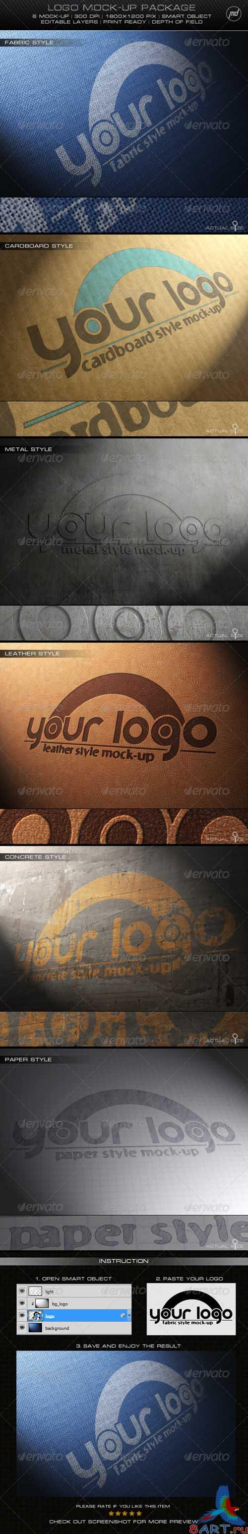GraphicRiver Logo Mock-Up Package - REUPLOAD