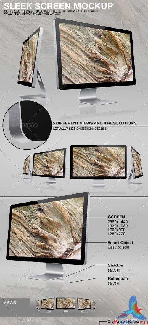 Sleek Screen Mockup - GraphicRiver