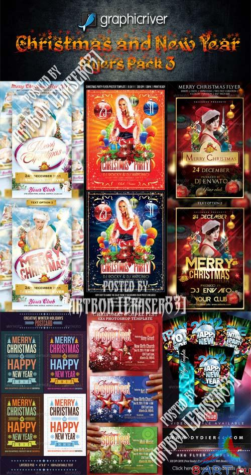 GraphicRiver Christmas and New Year Flyers Collection 3