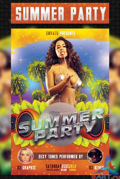GraphicRiver Summer Party Flyer Template 2370970