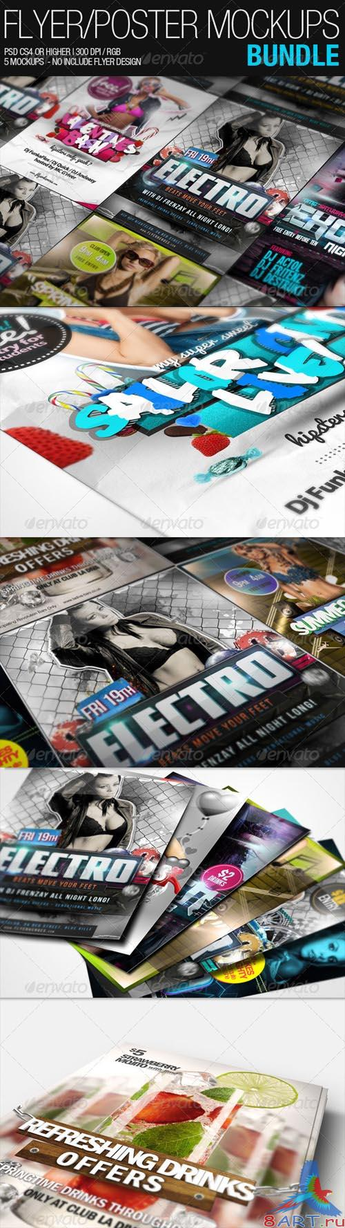 GraphicRiver Flyer Poster Mockups Bundle - REUPLOAD