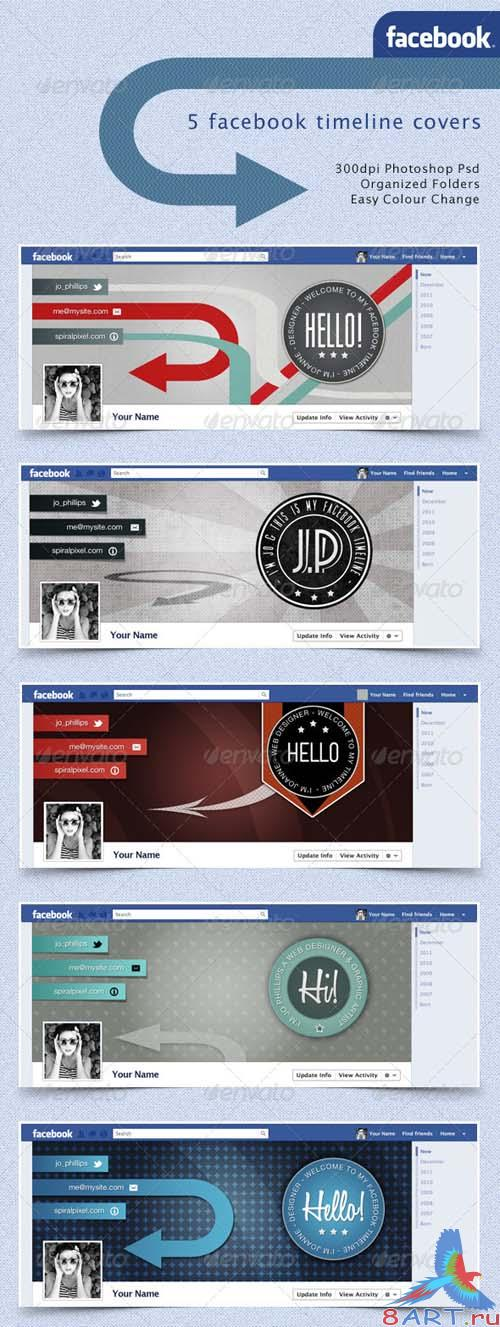 GraphicRiver Facebook Timeline Covers - Retro Badges