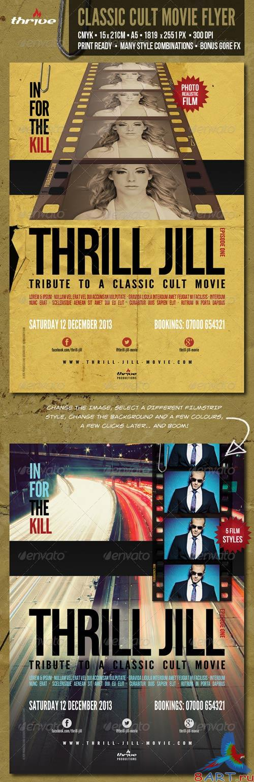GraphicRiver Classic Cult Movie Flyer - A5 - 2 Styles in One