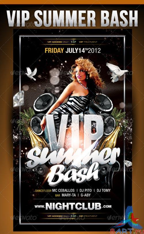 GraphicRiver Vip Summer Bash Party Flyer Template