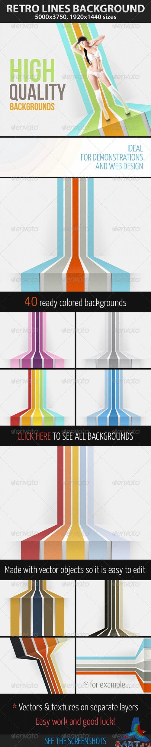 GraphicRiver Retro Lines Background