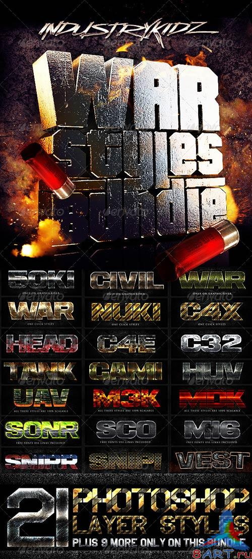 GraphicRiver War Photoshop Layer Styles Bundle