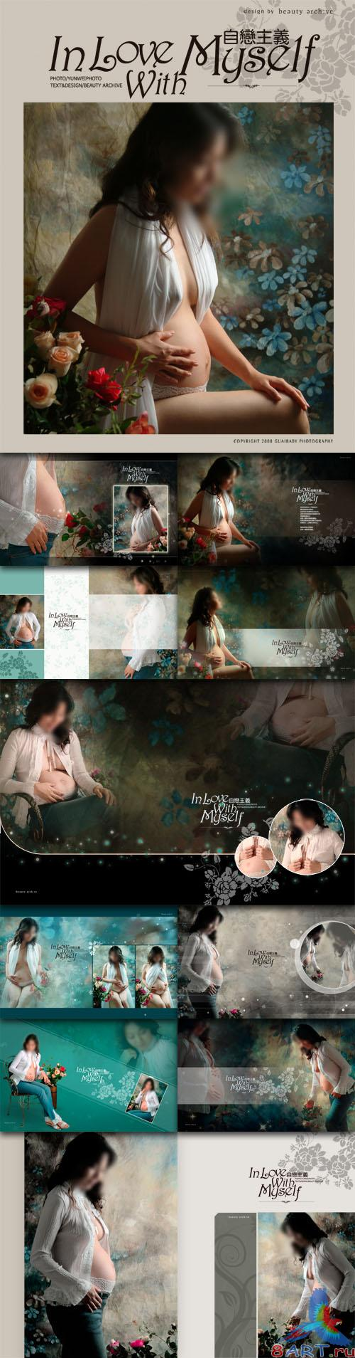 Pregnant women photo photo template narcissism