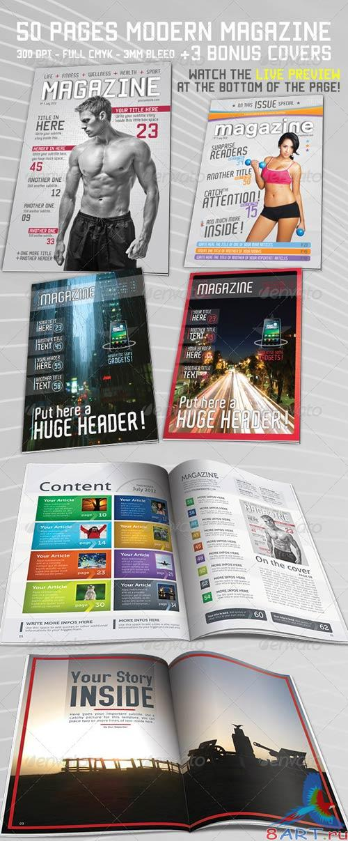 GraphicRiver 50 Page Magazine / Newsletter + 3 Bonus Covers