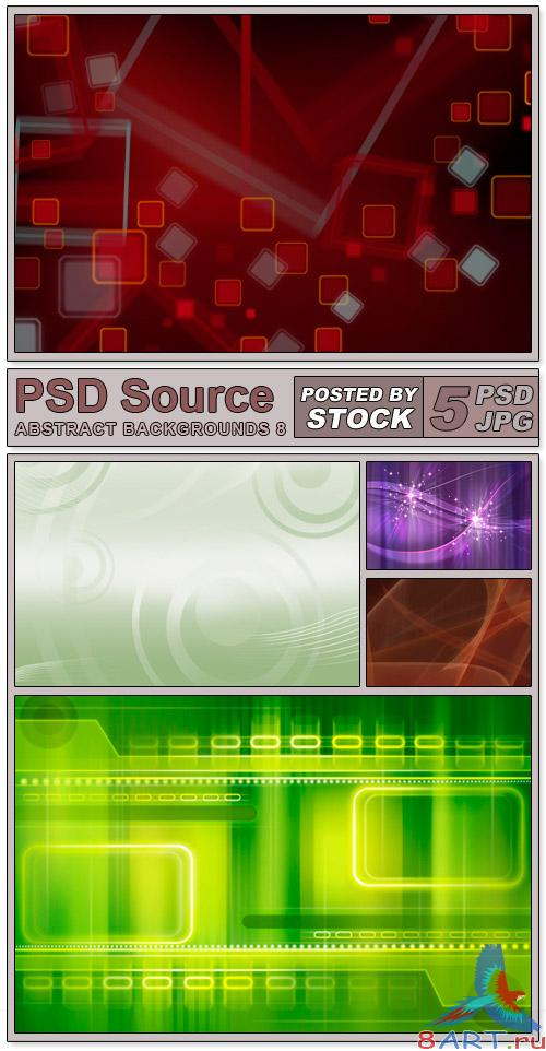 Layered PSD Files - Abstract backgrounds 8