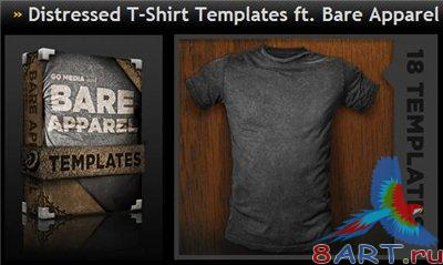 GoMedia - Distressed T-Shirt Templates ft. Bare Apparel