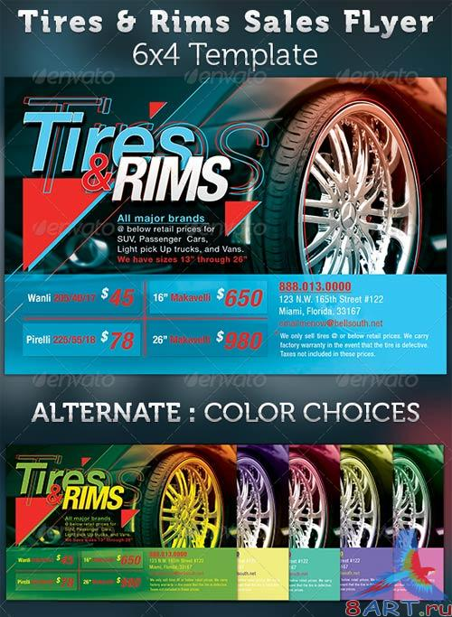 GraphicRiver Tires and Rims Sales Ad Flyer Tempalte