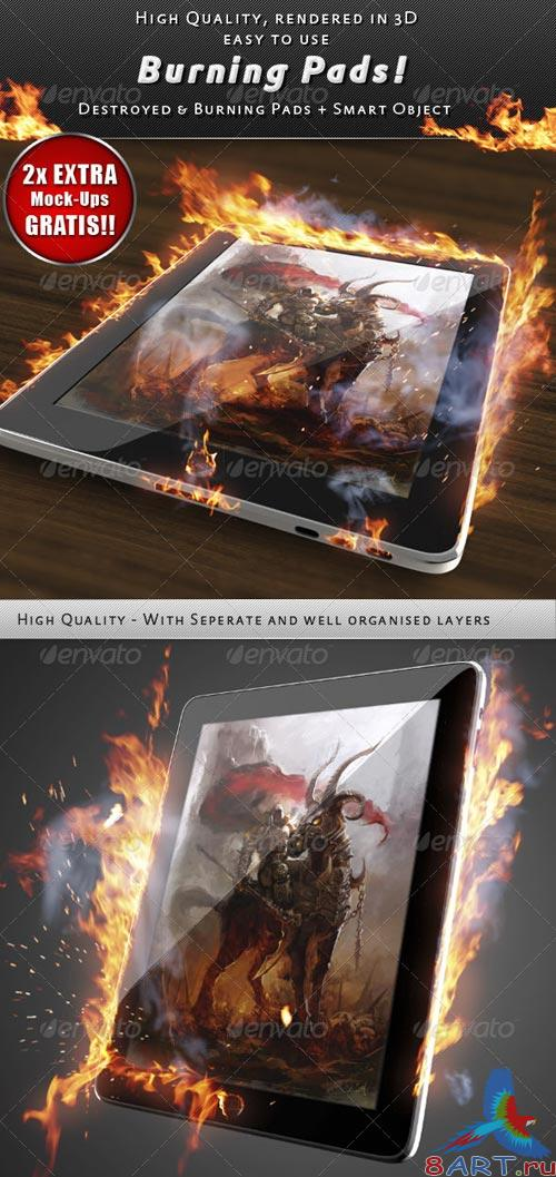GraphicRiver Pad On Fire Mock-Up