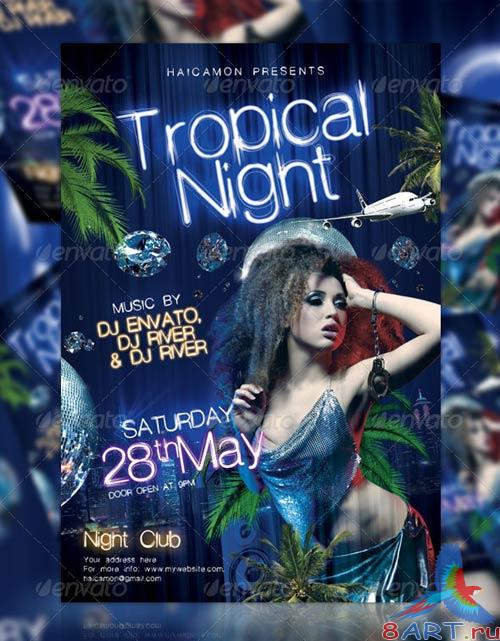 GraphicRiver Tropical Night Party Flyer