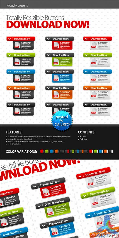 GraphicRiver - Totally Resizible Buttons - DOWNLOAD NOW!
