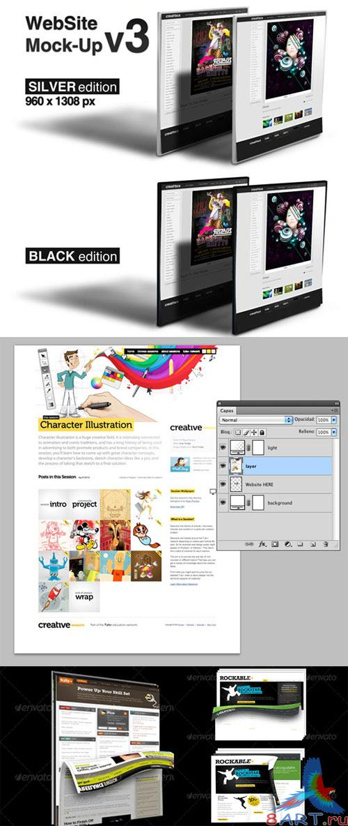 GraphicRiver - Website Mockup Pack