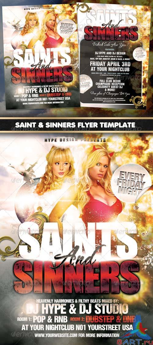 GraphicRiver Saints & Sinners Flyer Template