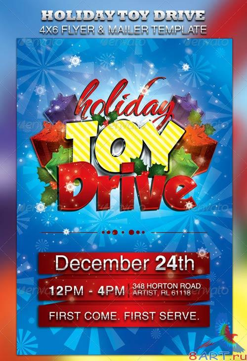 GraphicRiver Holiday Toy Drive Flyer & Mailer