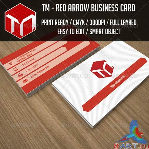 GraphicRiver Red Arrow Business Card