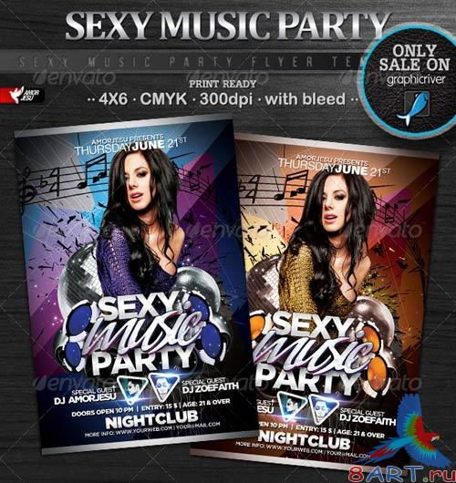GraphicRiver Sexy Music Party Flyer Template