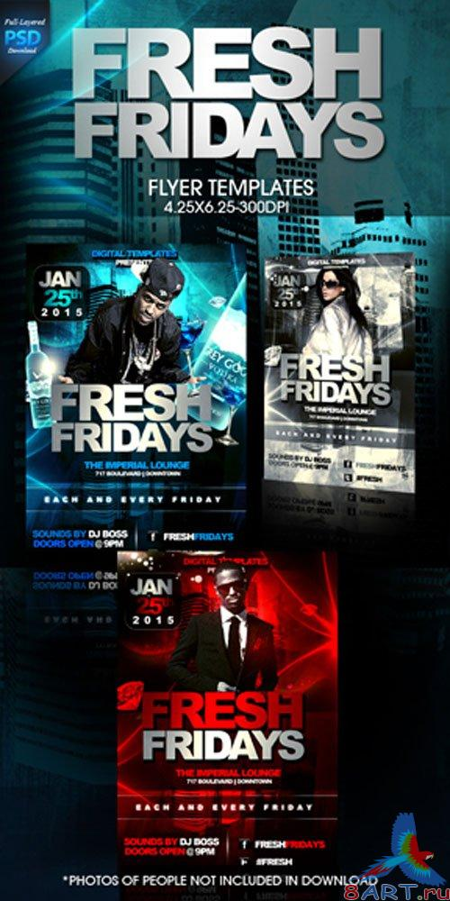 Fresh Fridays Party Flyer/Poster PSD Template