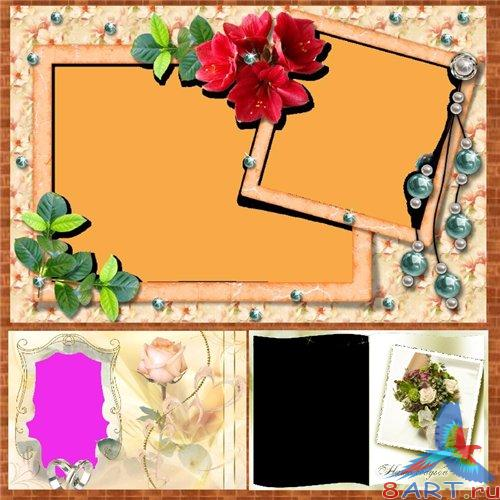 Large collection of wedding frames and frames for lovers