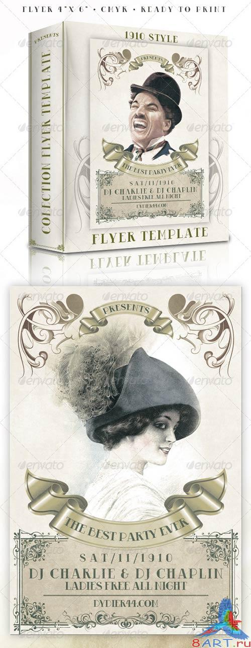 GraphicRiver 1910 Classic Style (4x6 Flyer Template)