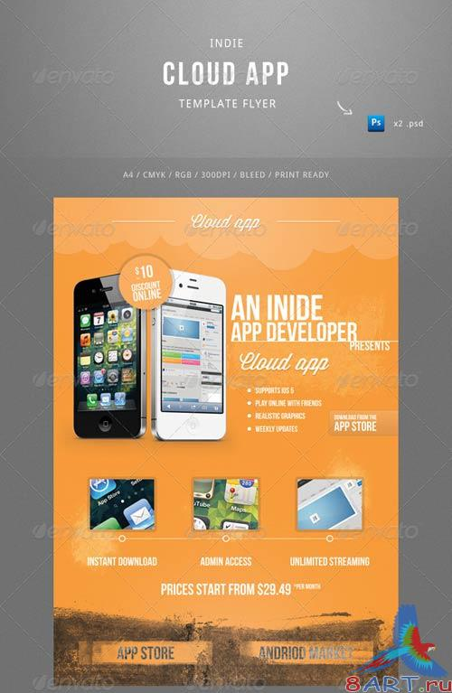 GraphicRiver Indie Cloud App Flyer Template