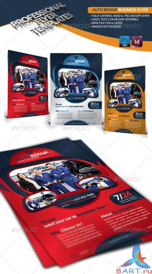 GraphicRiver Auto Repair Business Flyer