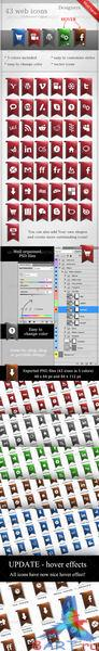 80 Web Ribbon.Icons [GraphicRiver]