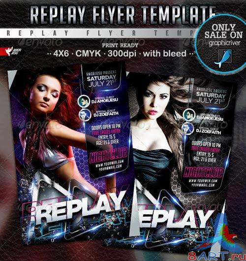 GraphicRiver Replay Flyer Template