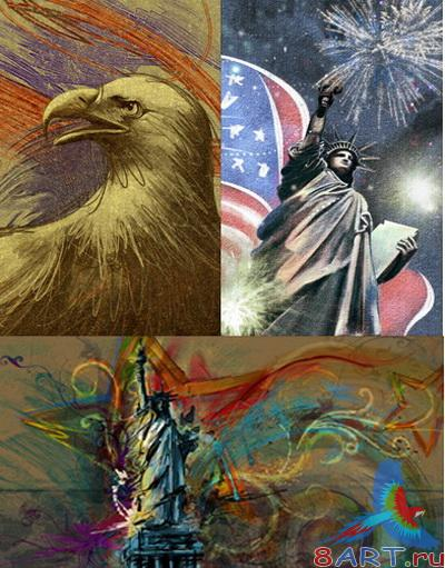 PSD Layered Pictures - USA Symbols