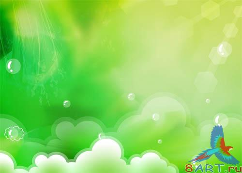 PSD - Green Clouds Template