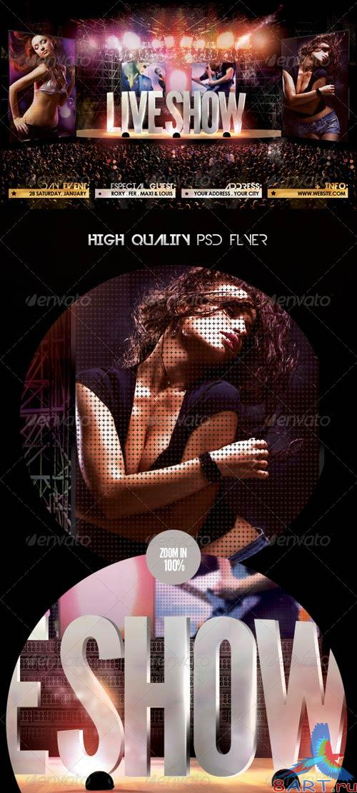 GraphicRiver Live Show Flyer Template