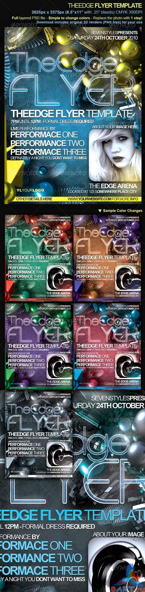 Theedge flyer poster template - GraphicRiver