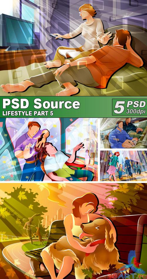 PSD Illustrations - Lifestyle 5