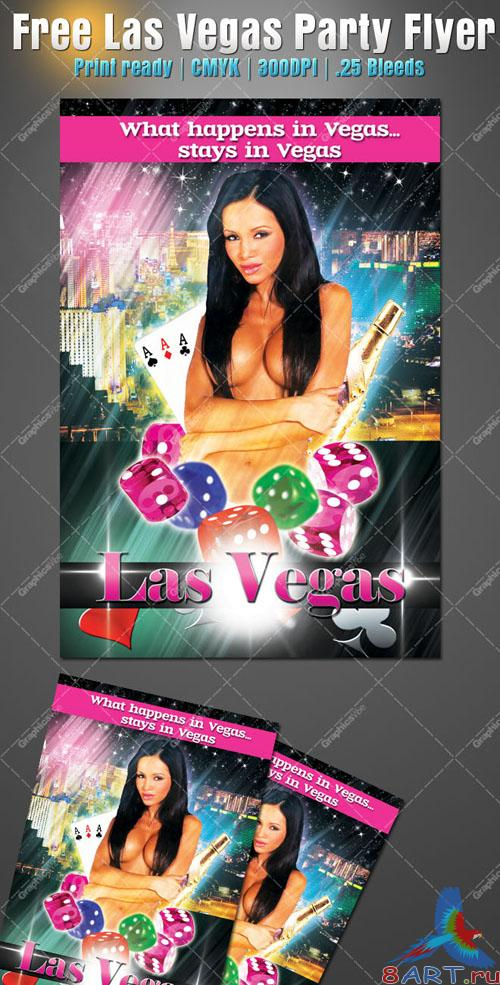 Las Vegas Party Flyer/Poster PSD Template
