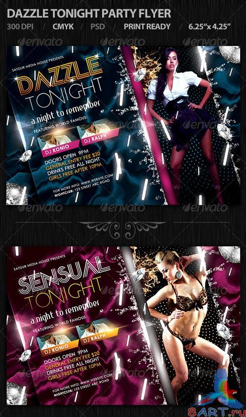 GraphicRiver Dazzle Tonight Party Flyer