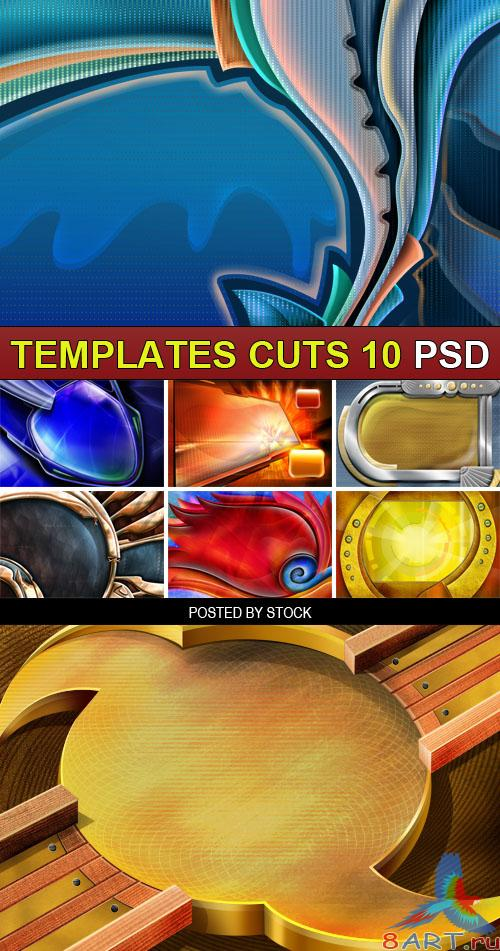 PSD Source - Templates cuts 10