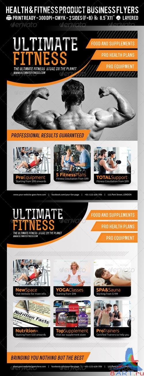 GraphicRiver Ultimate Fitness or Product Flyer PSD Template