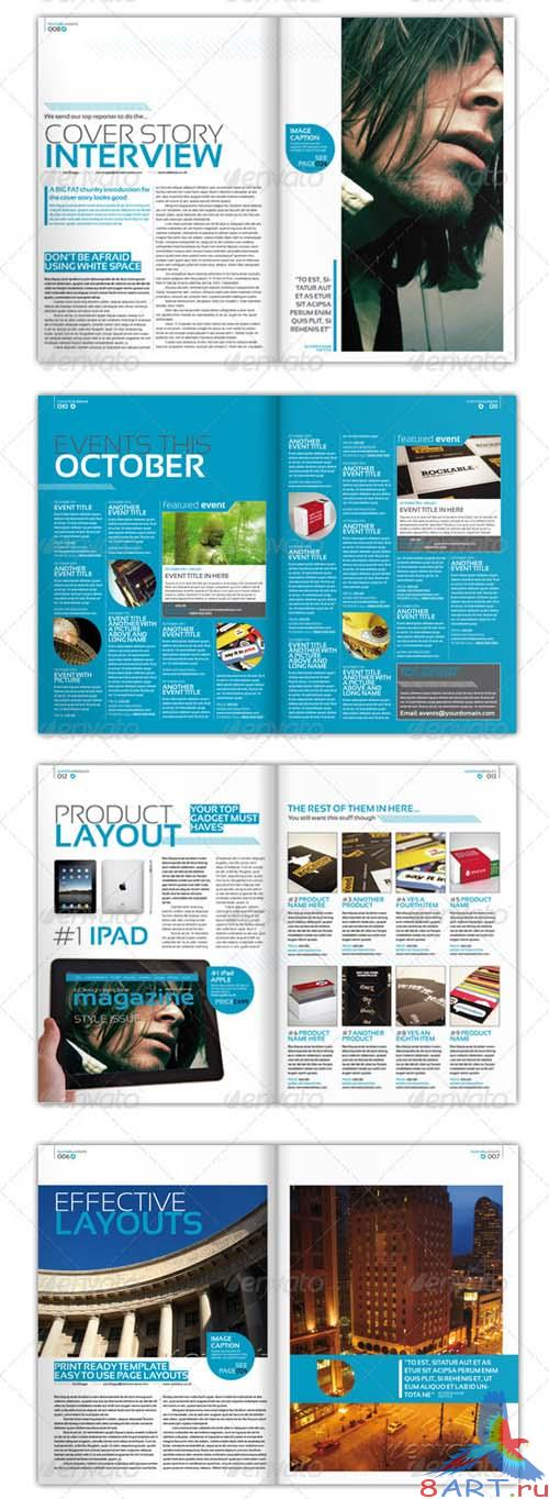 GraphicRiver Stylish InDesign Magazine Template