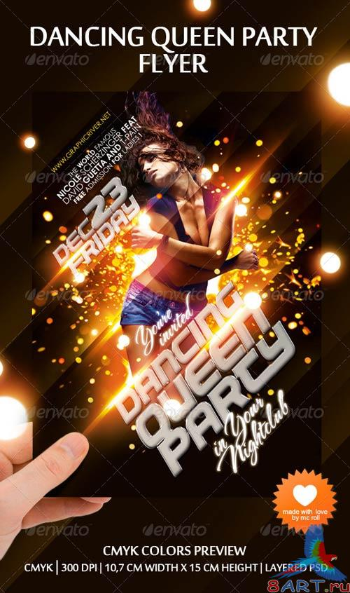GraphicRiver Dancing Queen Party Flyer