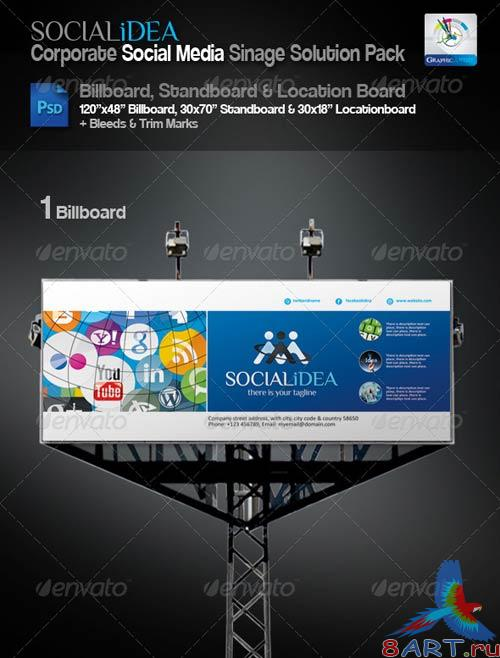 GraphicRiver Socialidea Corporate Sinage Solution Pack