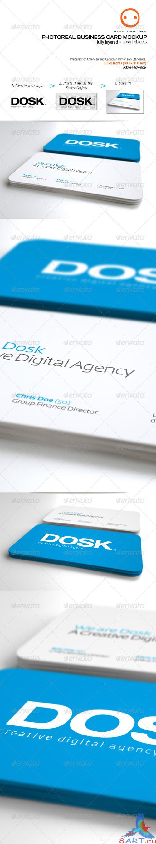 GraphicRiver - Photoreal Business Card Mockup 759489