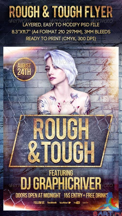 GraphicRiver Rough & Tough Flyer