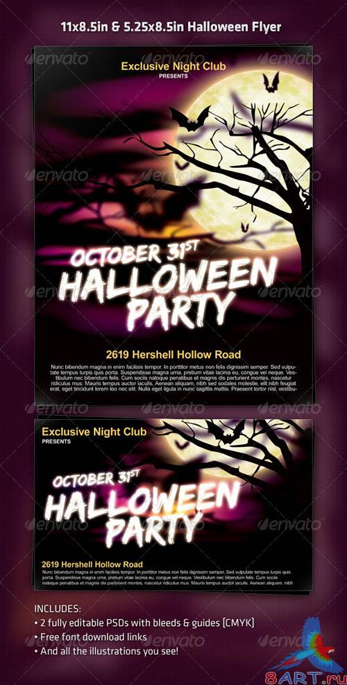 Graphicriver Exclusive Night Halloween Party Flyer