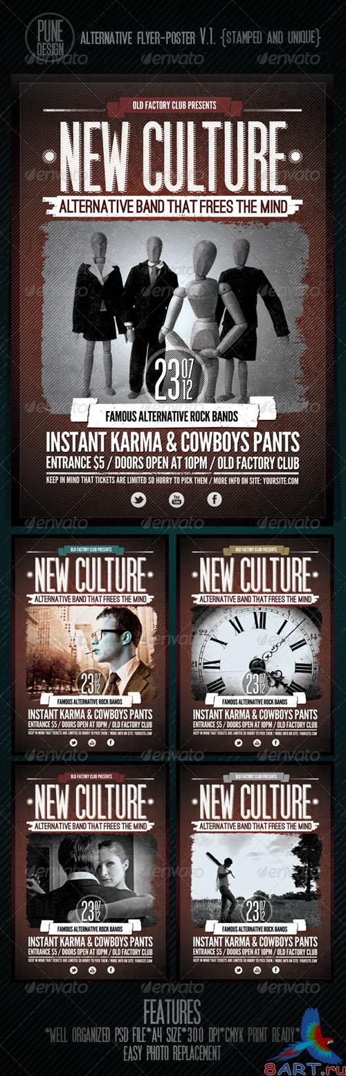 GraphicRiver - New Culture | Alternative Flyer/Poster V.1 (2449884)