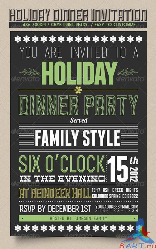 GraphicRiver Holiday Dinner Invitation